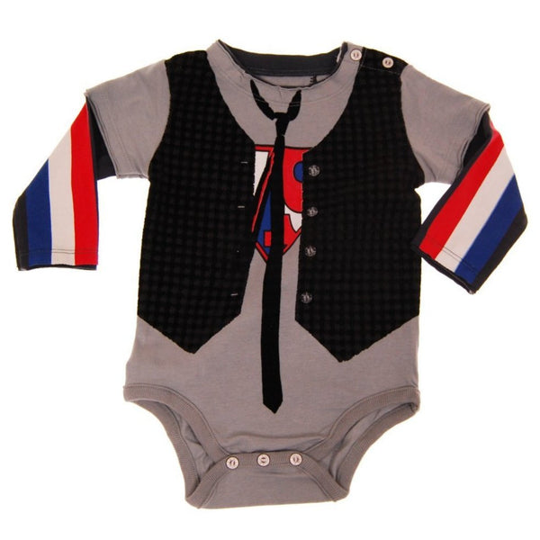 Super Hero Vest Twofer Bodysuit by: Mini Shatsu