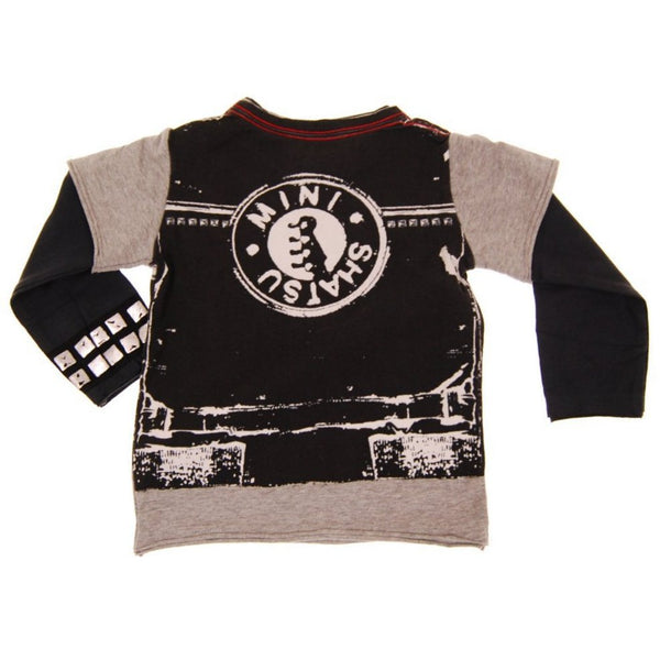 Leather Rocker Vest Baby Twofer T-shirt by: Mini Shatsu