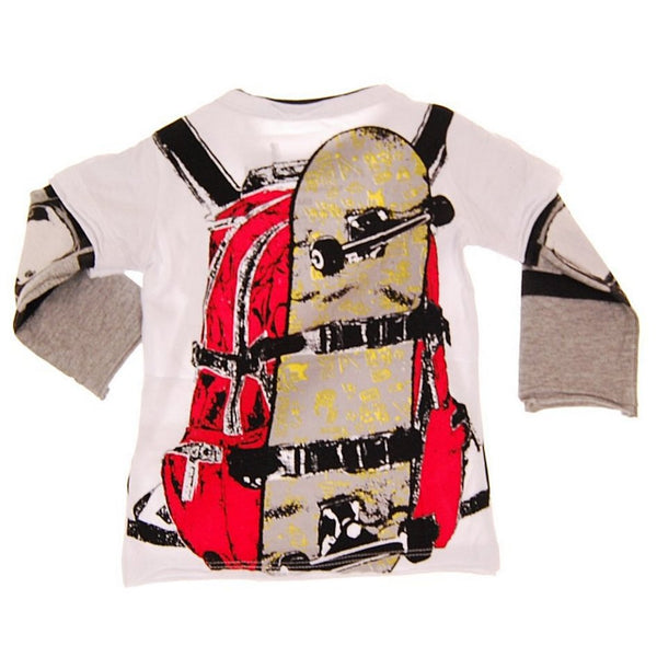 Skater Backpack Baby Twofer T-shirt by: Mini Shatsu