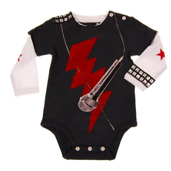 Rock The Mic Twofer Bodysuit by: Mini Shatsu