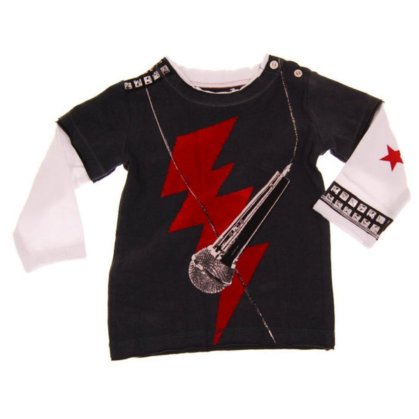 Rock The Mic Baby Twofer T-shirt by: Mini Shatsu