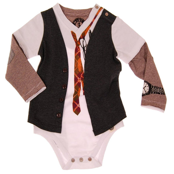 Young CEO Vest Bodysuit by: Mini Shatsu