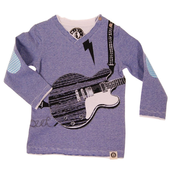 Electric Guitar Rocking Out Baby T-Shirt by: Mini Shatsu