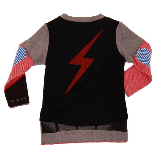 Superhero in Disguise Vest Baby Twofer T-Shirt by: Mini Shatsu