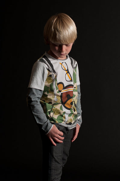 Camouflage Hooded Vest Baby T-Shirt by: Mini Shatsu