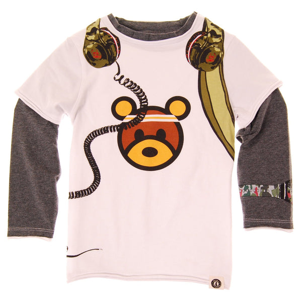 Camouflage Headphones T-Shirt by: Mini Shatsu