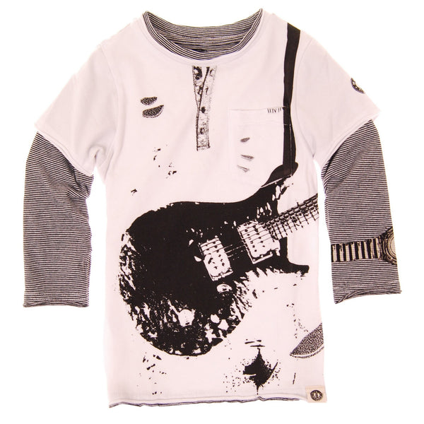 Ripped Electric Guitar T-Shirt by: Mini Shatsu