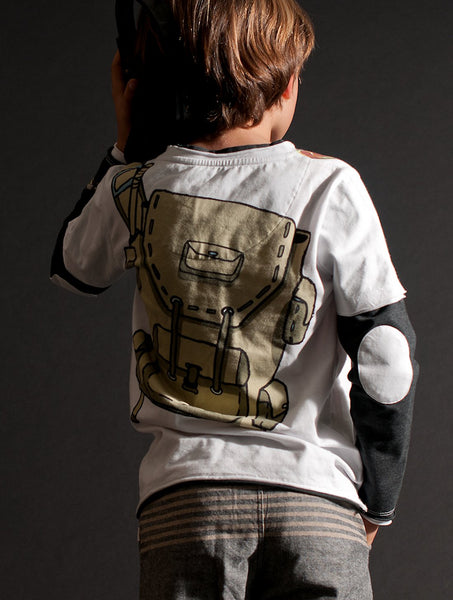 Camouflage Headphones Baby T-Shirt by: Mini Shatsu