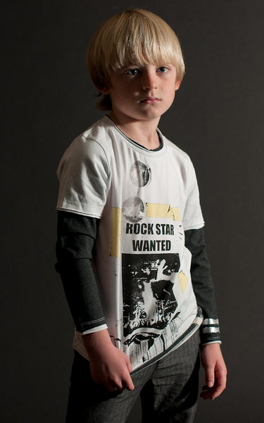 Rock Star Wanted Baby T-Shirt by: Mini Shatsu