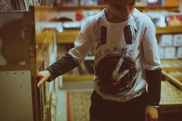 Lost In Music Vinyl Baby T-Shirt by: Mini Shatsu