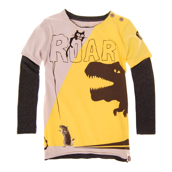 T-Rex Mouse Baby Twofer T-Shirt by: Mini Shatsu