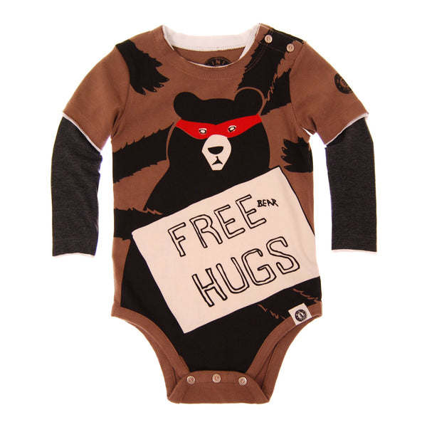 Free Bear Hugs Twofer Bodysuit by: Mini Shatsu