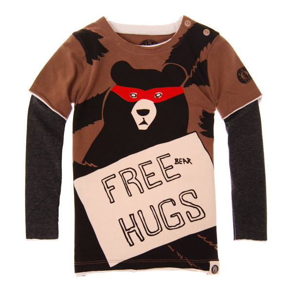 Free Bear Hugs Baby Twofer T-Shirt by: Mini Shatsu