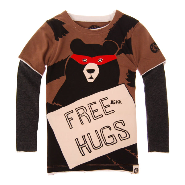 Free Bear Hugs Twofer T-Shirt by: Mini Shatsu
