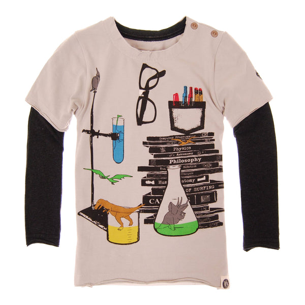Mad Scientist Baby Twofer T-Shirt by: Mini Shatsu