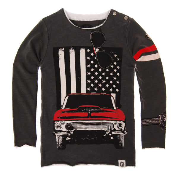 American Muscle Car Baby T-Shirt by: Mini Shatsu