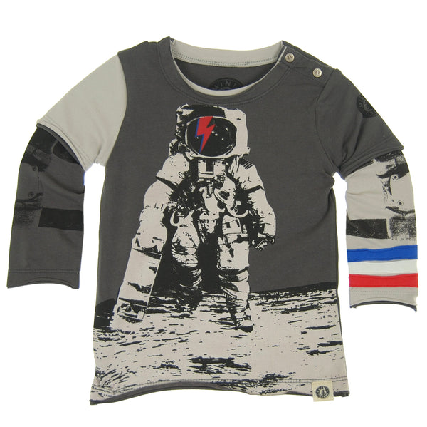 Astronaut Skater Baby Twofer Shirt by: Mini Shatsu