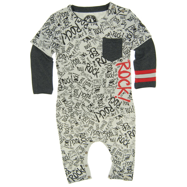 Rock Graffiti Baby Romper by: Mini Shatsu