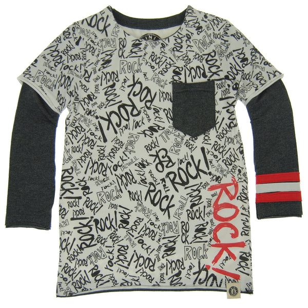 Rock Graffiti Twofer Shirt by: Mini Shatsu