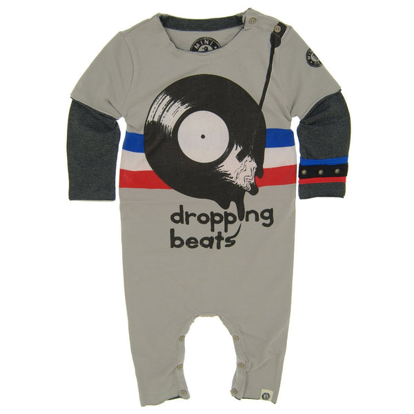 Dropping Beats Vinyl Baby Romper by: Mini Shatsu