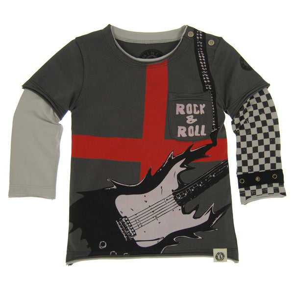Rock And Roll Electric Guitar Baby Twofer Shirt by: Mini Shatsu