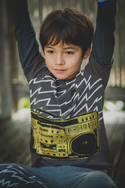 Electric Boom Box Baby Twofer Shirt by: Mini Shatsu