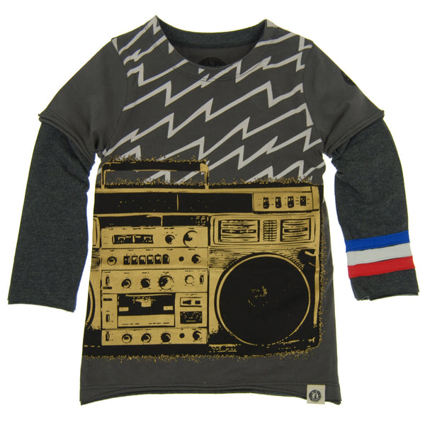 Electric Boom Box Twofer Shirt by: Mini Shatsu