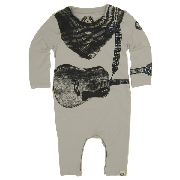 Acoustic Guitar Scarf Baby Romper by: Mini Shatsu