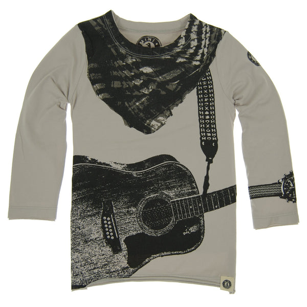 Acoustic Guitar Scarf Kids Shirt by: Mini Shatsu
