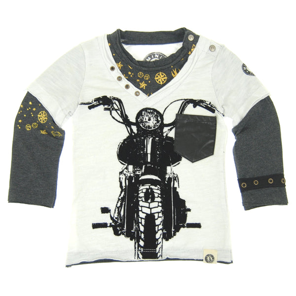 Vintage Biker Baby Twofer Shirt by: Mini Shatsu