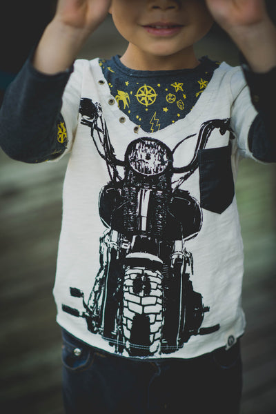 Vintage Biker Twofer Shirt by: Mini Shatsu