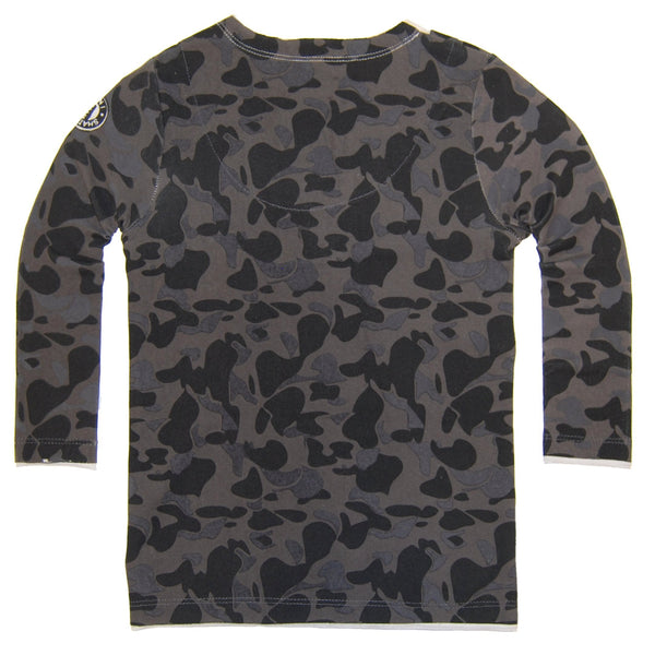 Blue Camouflage Sweater Tie T-Shirt by: Mini Shatsu