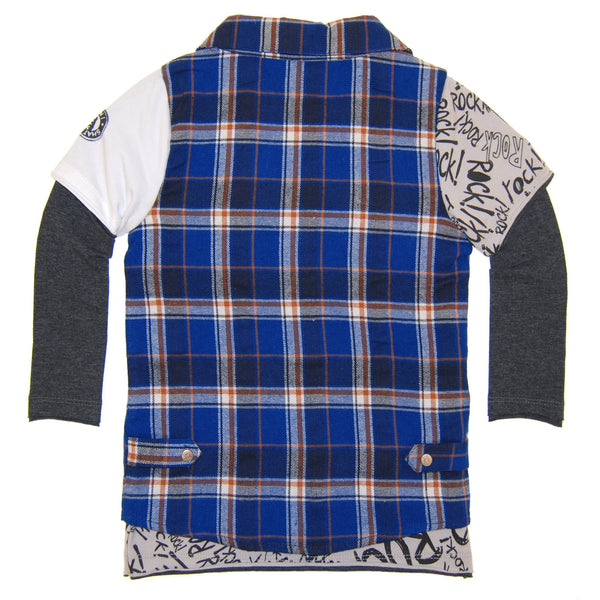 Rock Graffiti Plaid Twofer Baby T-Shirt by: Mini Shatsu