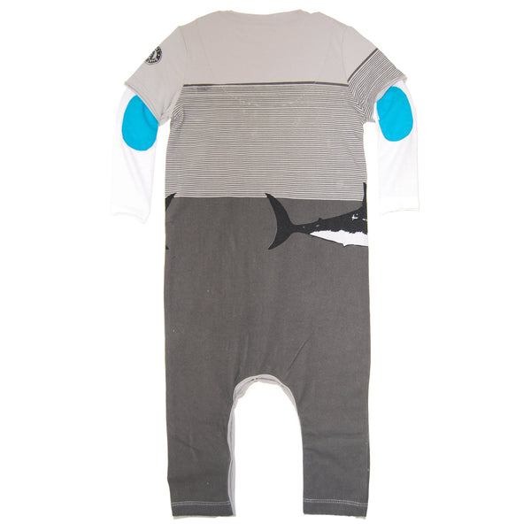 Chill Like A Fish Twofer Baby Romper by: Mini Shatsu