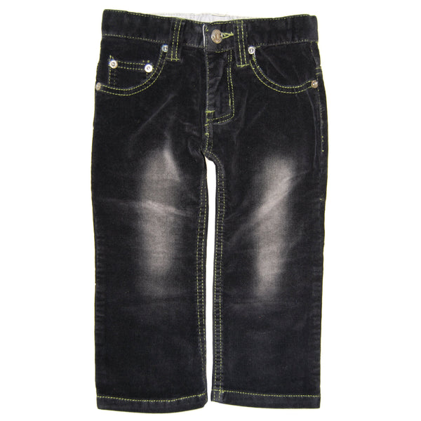 Black-Green Roy Corduroy Baby Jeans by: Mini Shatsu