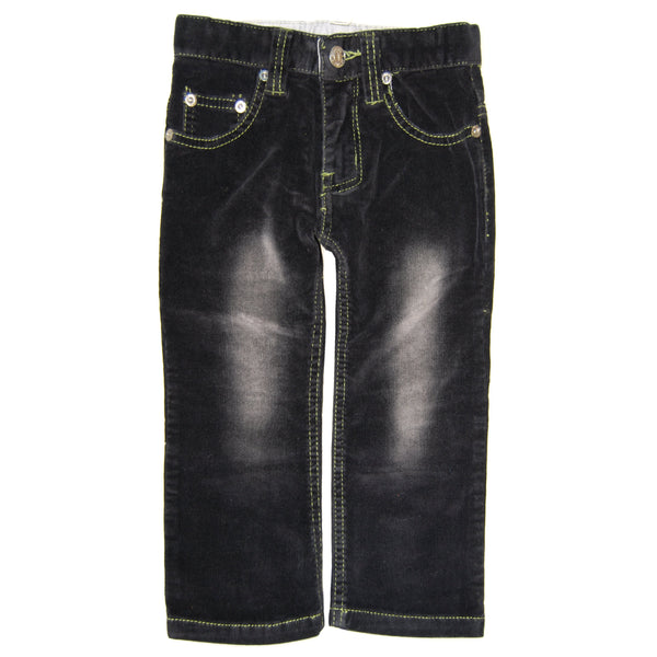 Black-Green Roy Corduroy Jeans by: Mini Shatsu