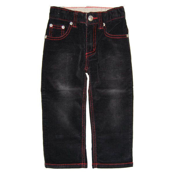 Black-Red Roy Corduroy Jeans by: Mini Shatsu