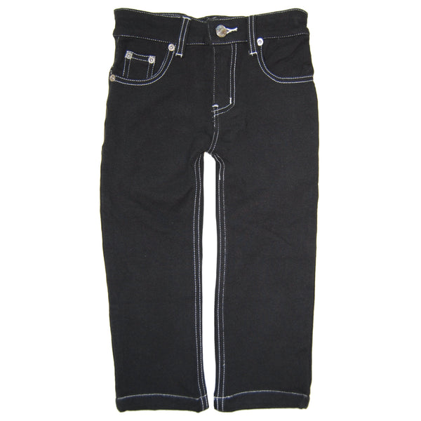 Black Franco French Terry Jeans by: Mini Shatsu