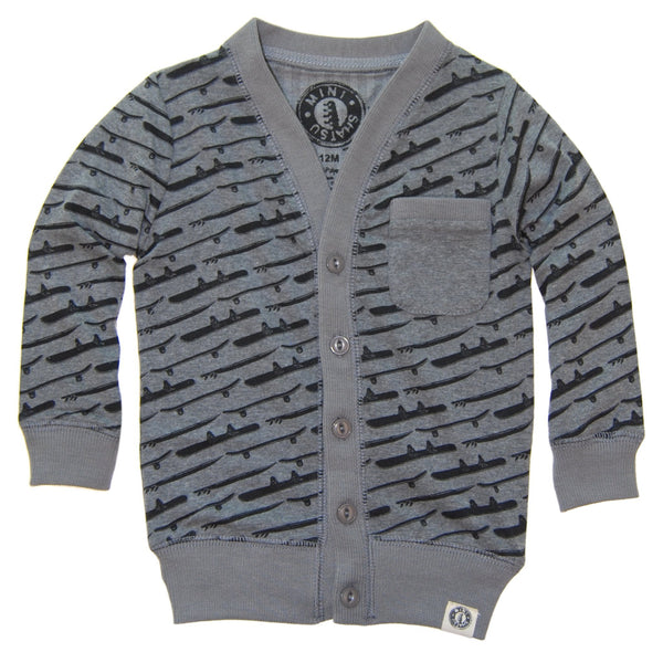 Skate Surf Snow Baby Cardigan by: Mini Shatsu