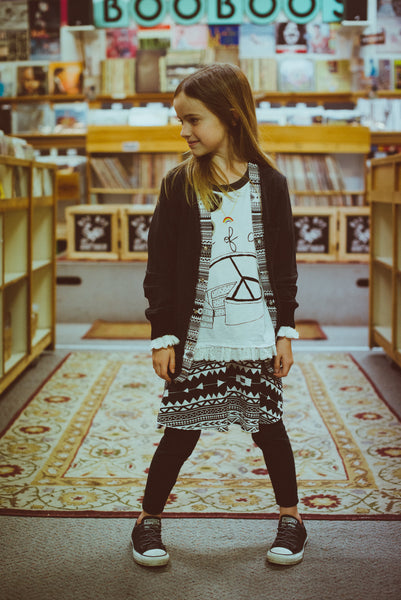 Girl Aztec Cardigan by: Mini Shatsu
