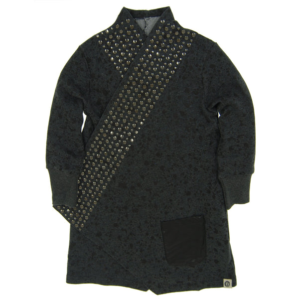 Rock and Roll Studded Splatter Trench Coat by: Mini Shatsu