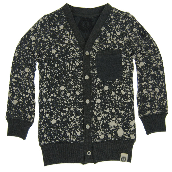Paint Splatter Cardigan by: Mini Shatsu