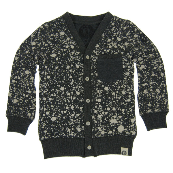 Paint Splatter Baby Cardigan by: Mini Shatsu