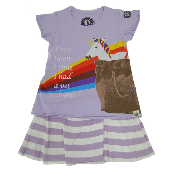 Once Upon A Time Pet Unicorn Baby Dress (Purple) by: Mini Shatsu
