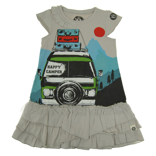 Happy Camper Baby Dress by: Mini Shatsu