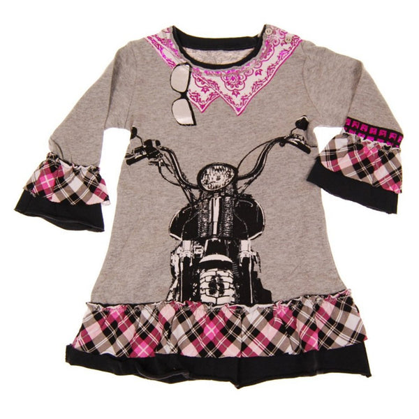 Biker Baby Long Sleeve Dress by: Mini Shatsu