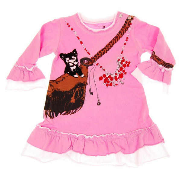 Puppy Love Baby Long Sleeve Dress by: Mini Shatsu