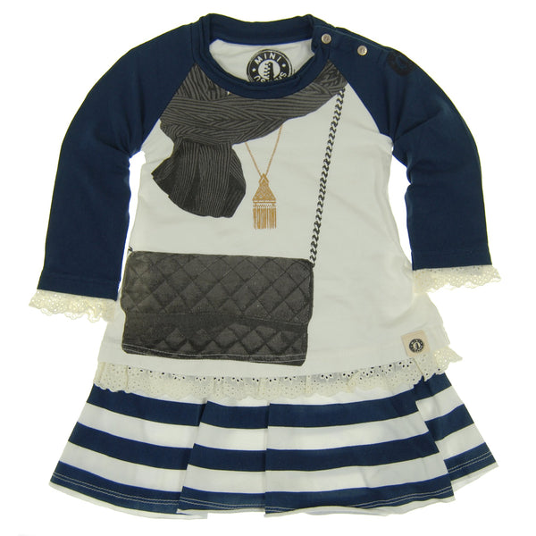 Classic Purse and Scarf Baby Dress by: Mini Shatsu