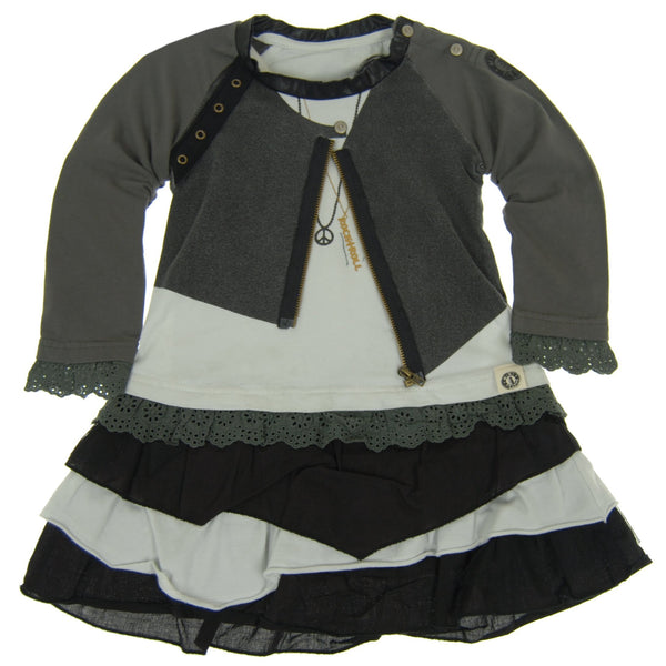 Rock and Roll Leather Jacket Baby Dress by: Mini Shatsu
