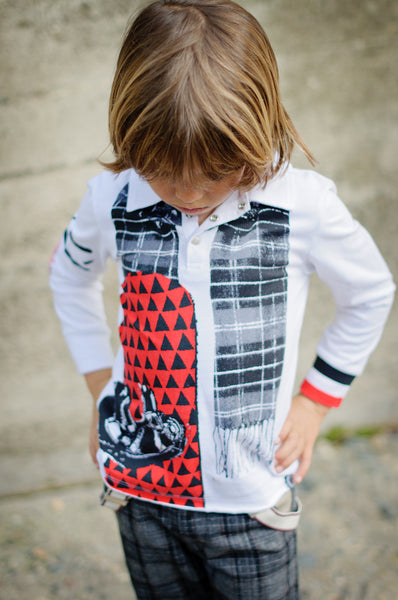 Snowboarder Baby Polo Shirt by: Mini Shatsu